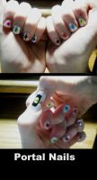 Portal Nails by animedreamgirl121