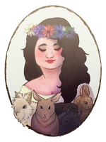 Queen Of The Bunnies by LittleArtistRen-Ren