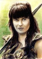Lucy Lawless miniature by whu-wei