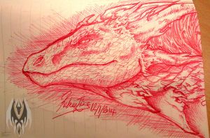 Dragon Head Sketch 4 by DragonGirl787
