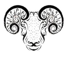 Stylized Sheep by cermaith