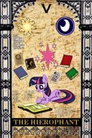 Twilight Sparkle - V - the hierophant by Dekiel00