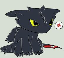 HTTYD Toothless Chibi unamused by hatirrisworldproject