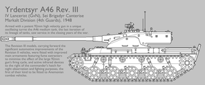 A46 Rev. III Medium Tank [Graphic|Uncoloured] by SixthCircle