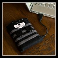 Cat case for portable HD by Kjiram