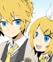 Kagamine Twins by eizurin