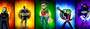 Teen Titans Emotional Spectrum by Firefaerie81