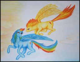 + Rainbow Dash 'n' Spitfire + by Kamisia