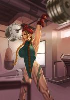 Female Muscle Cammy by female-muscle-comics
