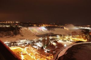 Niagara Falls at night by VacantHaze