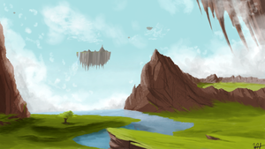 Floating Islands or Something by Brony2you