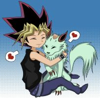 Yugi and Silver Fang by Beastwithaddittude
