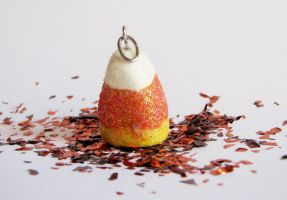 Candy corn pendant by maggmagg