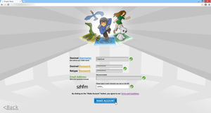 Game Screenshop - Account Creator Page [ALPHA] by ProjectPecto