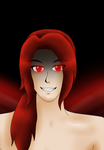 Lucius Crane 'Fallen Angel, glowing red' by RosaPeach