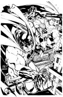 Batman Superman Inks-0ld Stuff by SplashColors