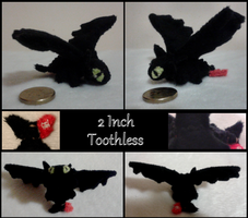 2 inch toothless plush by MegasArtsAndCrafts