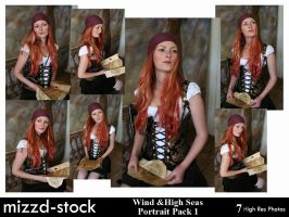 Wind High Seas Portrait Pack 1 by mizzd-stock