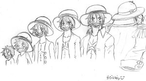 Luffy aging by heivais