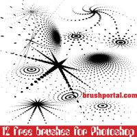 Abstract dots free brushes for Photoshop by Brushportal