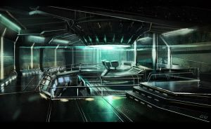 scifi office concept by gunsbins