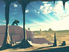 Another world made in lowpoly (3D) by STATHOPOULOS