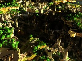 Minecraft CraterCity by BlueBlankey