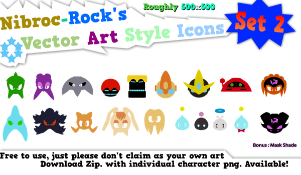 Sonic Vector Icons Set2 by Nibroc-Rock