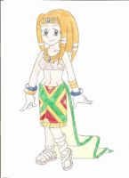 A human version of Tikal by animequeen20012003