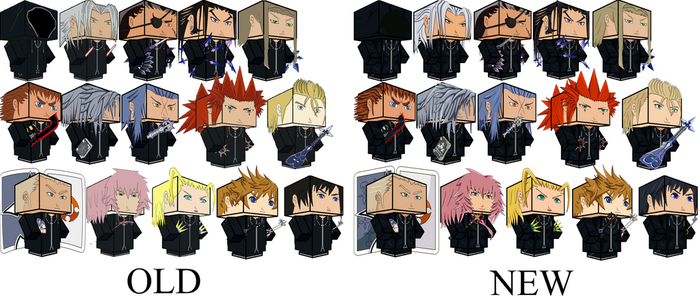 Organization XIII Comparison by zienaxd