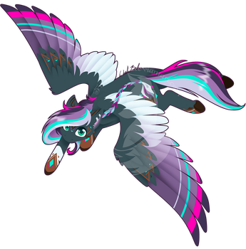 Commission - Rainbow Power Paper Cloud by FuyusFox