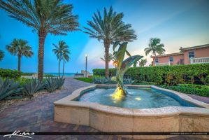 Hollywood-Florida-Dolphin-Statue-Water-Fountain by CaptainKimo