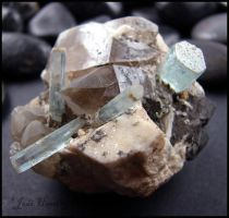 Aquamarine On Quartz by andromeda