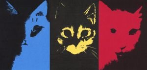 Cat Triptych by Artistlover