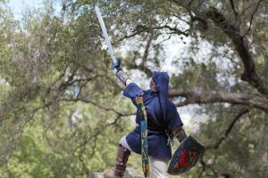 Link! Thrust your Sword to the sky! by Scarlet-Impaler