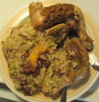 Butternut-Honey Chicken Leg Quarters and Rice 2 by Windthin