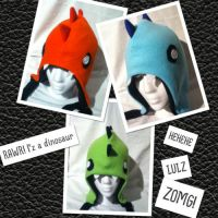The Dinosaur Hat Family :3 by TakemetoyourLULZ