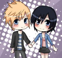 Roxas and Xion by XNessNessX
