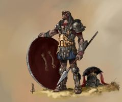 warrior concept by TheBeke