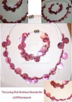 Loving Pink Necklace-Bracelet by jenepooh