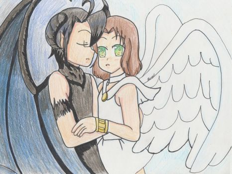 ::+AmeLiet-Devil and Angel+:: by Apple-Rings