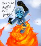 Prudith the human torch by aweopalta
