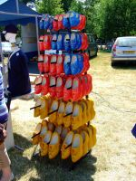A lot of wooden shoes by inbalance