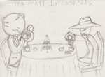 Noirvember 21: Aggressive Tea Party! by AlmightyTallestVoldy