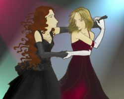 Fiona and Lia Dancing by rosalarian