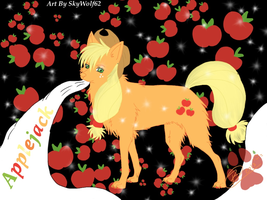 Applejack Wolf by Chibi-Cola-SkyWolf62