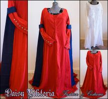 Red Linen Kirtle Commission by DaisyViktoria