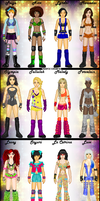 MyWWE: My Full Divas Roster by TerenceTheTerrible