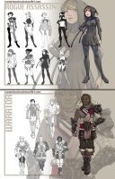 Male and Female Fantasy Concept Sheets by VanessaFardoe