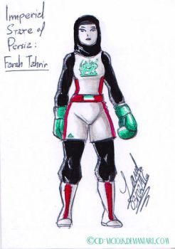 Concept Sketch - Iranian Boxer Girl by Cid-Vicious